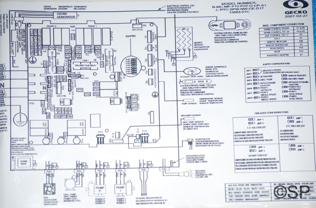 Gecko hot tub control panel wiring diagram bazooka for Dimension one spas