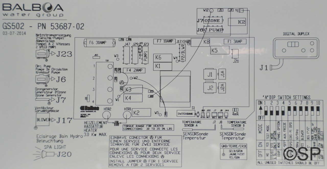 balboa spa control wiring diagram