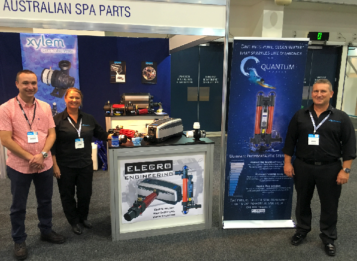 Australian Spa Parts - SPLASH expo - Elecro Engineering Titan Optima, Optima Compact electric heaters, Quantum Photocatalytic Oxidation, Heat Exchangers - G2, WHE and SST