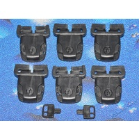 Spa Cover Lock set - 6 Pack - Slotted - Black