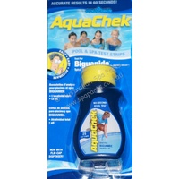 Aquaspa Aquachek Blue Biguanide Chemical Test Strips - 25 strip bottle