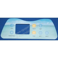 Artesian Spas Island series topside touchpad overlay decal - 7 button, 2 pump
