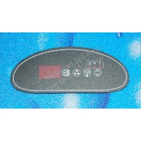Hydroquip K-22 Crescent Touchpad Overlay Decal - 4 button