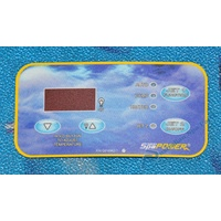 Davey Spapower Xcelsior Spa Pool Rectangular touchpad overlay decal