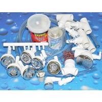 Waterway Spa Bath Plumbing System - 6 Jet Kit - 55mm holes