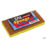 Spa Sponge - double sided crushed walnut spa cleaner pad with foam sponge