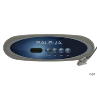 Balboa VL260 4 ButtonOval Topside Panel - LCD - Blower/Jets, Jets, Temp, Light