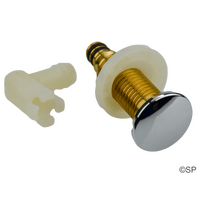 Edgetec Enhance Spa Bath Air Injector - Brass Body - with chrome cap and elbow