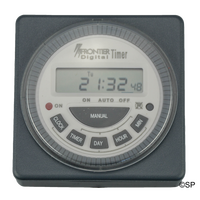 Frontier Flush Panel Mount Timeclock - Digital 7 day - with Battery Back Up
