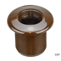 Hydroair Hot Tub Spa Wall Fitting with extended thread - Brown