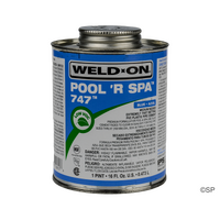 IPS Weld-On 747 Pool 'R Spa Flex Solvent Cement - 1 pint/473ml - Blue