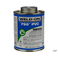IPS Weld-On 795 Pool 'R Spa Flex Solvent Cement - 1 pint/473ml - Clear