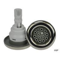 Waterway Poly Storm 5 Point Scallop - Multi Massage - Grey with Stainless Steel Escutcheon - Bulk Buy - BOX OF 50 JETS