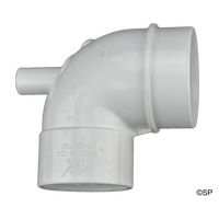 "Waterway 2.5"" Spigot x 2"" Socket 90 Ell Vacuum Suction Adaptor Fitting"